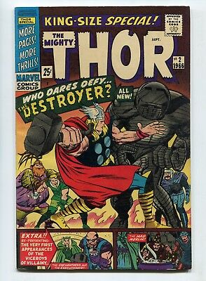 1966 Marvel The Mighty Thor King Size Annual #2 The Destroyer Fine/very Fine