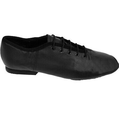 Soft Black Leather Split Rubber Sole Jazz Dance Shoes UK 10 Child to 9 Adult