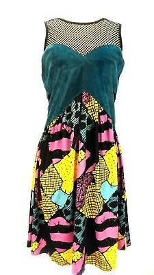 disney the nightmare before christmas womens dress l mesh velour sally stretchy