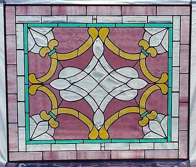 """""""PRINCESS"""" Large Stained Glass Hanging Panel (or Window Insert ) - 32"""" x 27"""""""