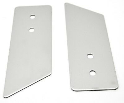 """hood latch trims (2) stainless steel Freightliner Classic hood guard 7 3/8"""" long"""