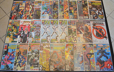 SPIDER-MAN (34-Book) Marvel Comic LOT with Amazing, Web of, Spectacular & MORE