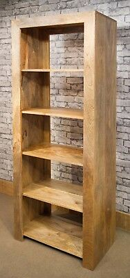 MANTIS CUBE BOOKCASE Solid Light Mango Wood Room Divider Natural