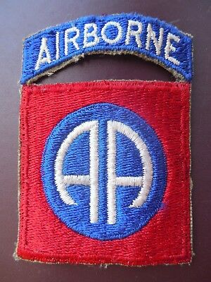 WWII 82nd Airborne Infantry Division Patch Tab US Army Military Insignia AA P999