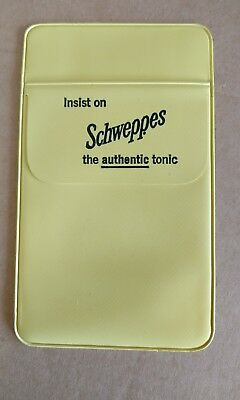 Vintage pocket protector Schweppes the authentic tonic RARE