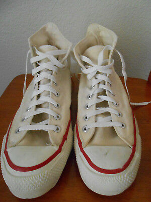 Vintage Converse All Star White High Tops Men's Size 9.5