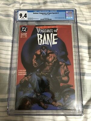 Vengeance Of Bane 1 CGC 9.4 White Pages 1st Appearance Of Bane