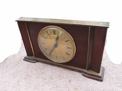 lovely quality metamec mantel clock 1950s for spares or repair clock parts