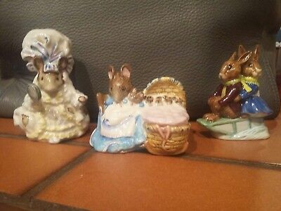 Beatrix Potter's Collectable Figurines Lot Of 3