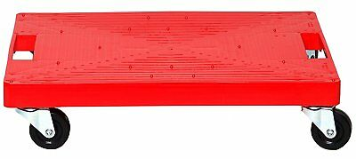 16 in x 11 in Multi-Purpose Red Garage Dolly 500 lb. Load capacity Utility Cart