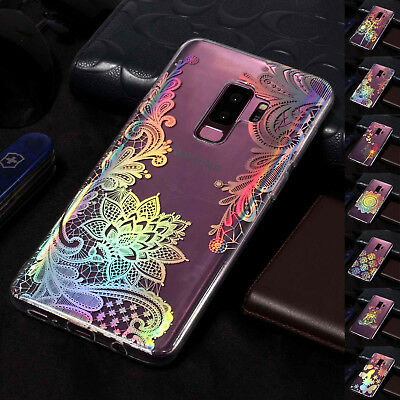 For Samsung Galaxy S9+/Note 9/S8 Slim Soft TPU Pattern Silicone Back Case Cover