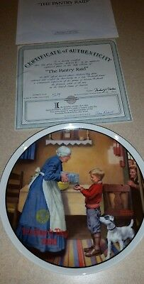 Norman rockwell plate the pantry raid