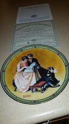 "Norman rockwell plate ""A Couples Commitment """