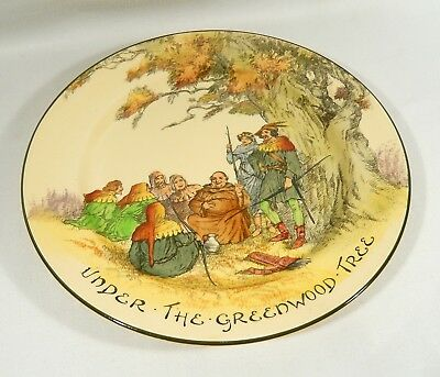 Royal Doulton ROBIN HOOD  10 1/4  inch Dinner Plate UNDER THE GREENWOOD TREE