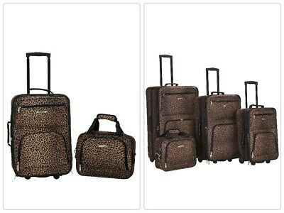 828f1e683 Rockland 3 Piece Safari Polycarbonate ABS Upright Bags Travel Luggage Sets