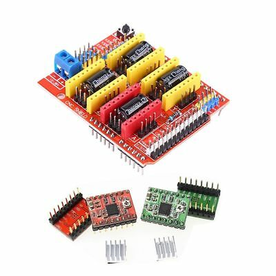 CNC SHIELD V3 0 + UNO R3 + 4pcs A4988 Driver /GRBL for Arduino 3D