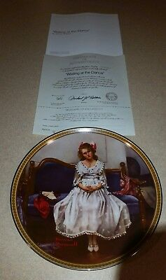 "Norman rockwell plate ""Waiting at the dance"""