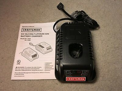 New Craftsman C3-19.2 Volt Lithium Ion Battery Charger 5336