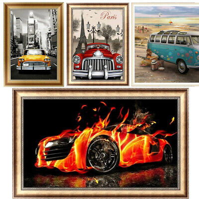 Racing Car DIY 5D Diamond Painting Van Art Drill Cross Stitch Kit Home Decor