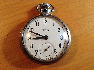 Vintage Smiths FOB Watch Pocket Clock ~ Great Britain - Superb Cosmetic Cond!