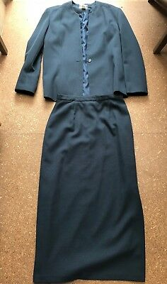 Noni B Corporate Skirt Suit (matching 2 Piece) - Size 12, Navy, as new
