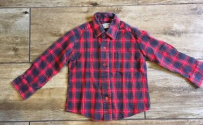 Vintage Bloomingdales Boys Shop Toddler Plaid Flannel Shirt 4