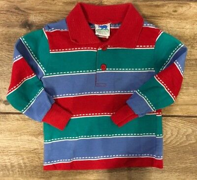 Vintage Boys Toddler Garanimals tops long sleeve Shirt tees 2T retro pattern