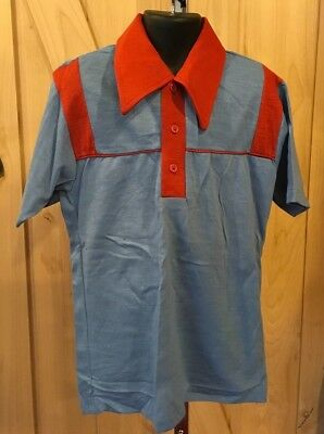 Boy's Vintage Retro Pullover Button top Shirt JcPenney Size 12