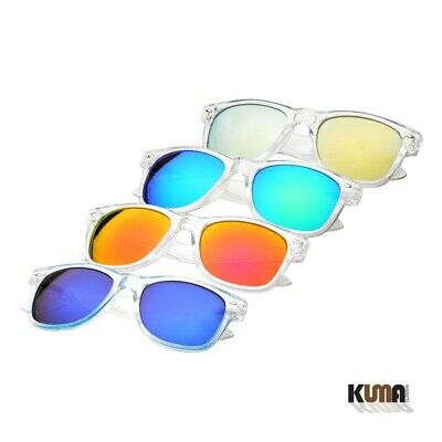Fashion Retro Horn Rimmed Clear / Frosted Frame Color Mirror Lens Sunglasses