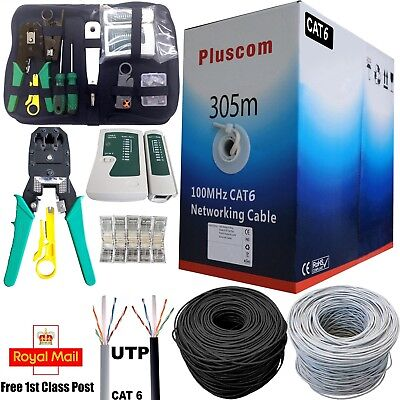 305M CAT6 Network Cable Utp Ethernet Patch Roll Lan RJ45 Outdoor Reel Bulk