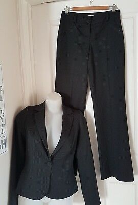 Review Suit BLACK With Small Spots  Pants Size 10 Jacket 8  Near new  Corporate