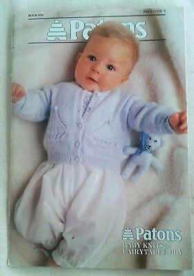 Paton's Baby Knits in 3 ply knitting pattern book 850 - 13 projects