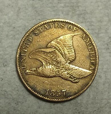 Extra Fine 1857 Flying Eagle Cent! Sought after piece!
