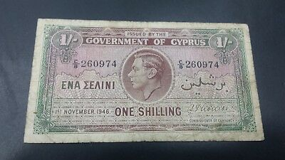 Cyprus 1 Shilling  Banknote 1946