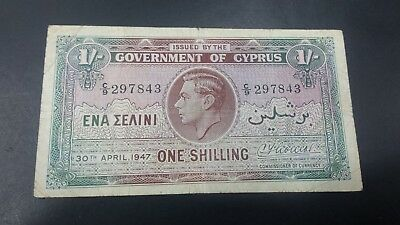 Cyprus 1 Shilling  Banknote 1947