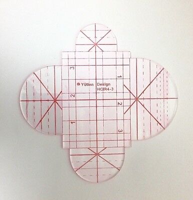 Clamshell Quilting Templates HCIR4 3mm  for Domestic Sewing Machines