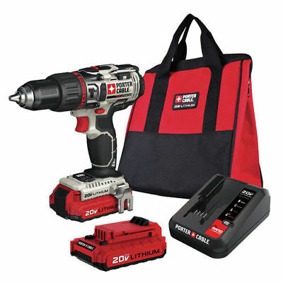 Porter-Cable 20V MAX Cordless Lithium-Ion Hammer Drill Kit New