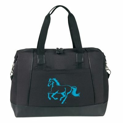 """Black and Turquoise """"Lila""""Duffle"""
