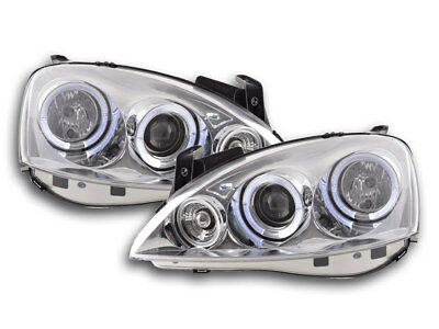 Scheinwerfer Angel Eyes Opel Corsa C Bj. 01-06 chrom