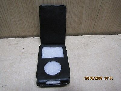 Apple iPod classic leather flip travel storage protective case with belt clip