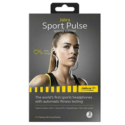Jabra Sport Pulse Special Edition Wireless Bluetooth Earbuds with heart rate int