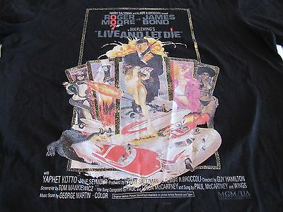 James Bond T-Shirt Live and Let Die Retro 70's Film Roger Moore Celio XL
