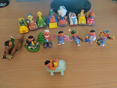 LOT OFMuppets Sesame Street Characters Die-cast Vehicles AND SOME ERNIE FIGURES