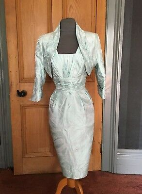 Gorgeous Bnwt Presen Mother Of The Bride/evening Dress, And Bolero, Size 14