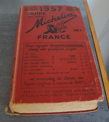 guide Michelin 1957 en bon état