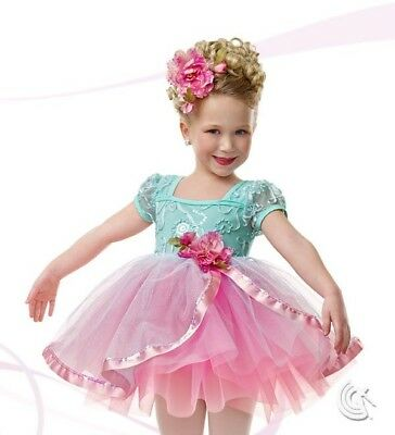 "Curtain Call Costumes ""Fairy Dust"" E938 CSM: E938 Mint & Pink Dance/ Pageant ☆"