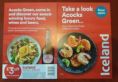 Iceland Acocks Green vouchers £3 off when you spend £15 x 5