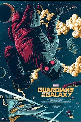 Guardians of the Galaxy by Florey Regular Poster Print Grey Matter