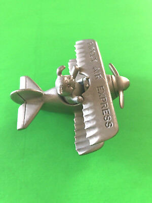 "REDUCED! 1987 SPOONTIQUES PEWTER ""PIGGLY AIR EXPRESS"" 2 1/2"" x 2 1/4"""