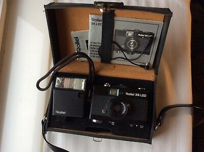 Rollei 35 LED Camera original Box and Manual VG condition
